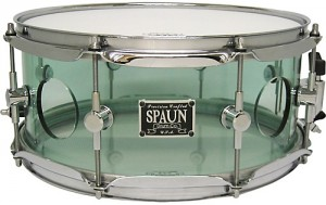 A nice snare drum made of acrylic